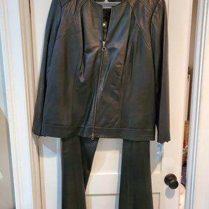 Plus Size Leather Suit